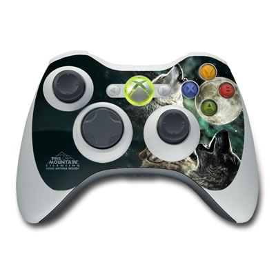 Xbox 360 Controller Skin - Three Wolf Moon