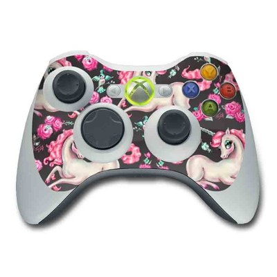 Xbox 360 Controller Skin - Unicorns and Roses