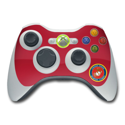 Xbox 360 Controller Skin - USMC Red