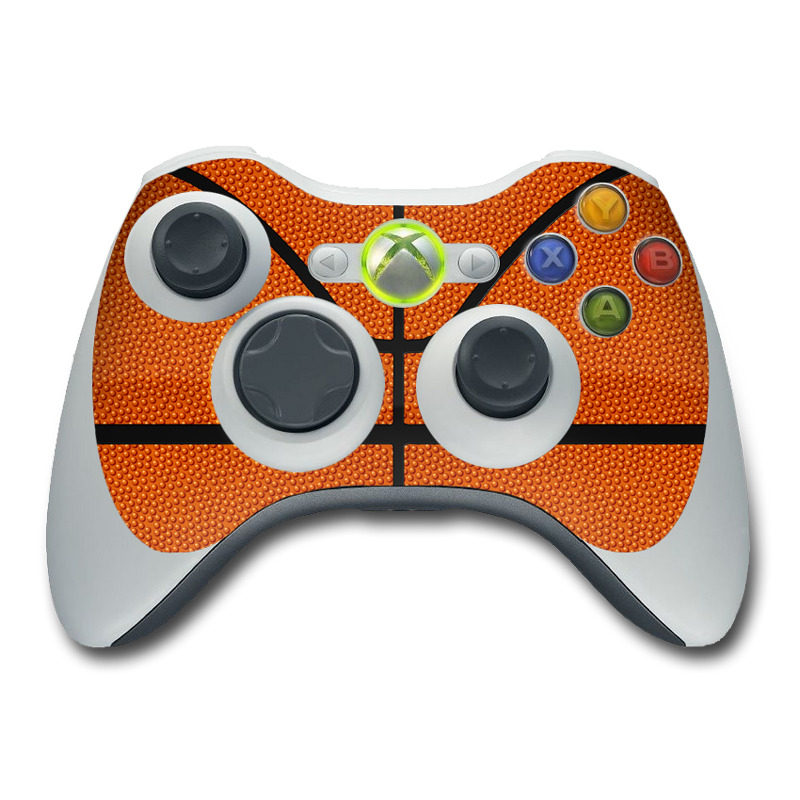 All Xbox 360 Controllers : Xbox controller skin basketball by sports decalgirl