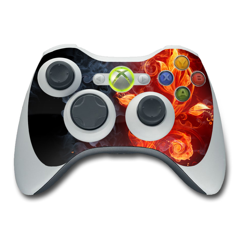 Xbox 360 Controller Skin - Flower Of Fire by Gaming ...