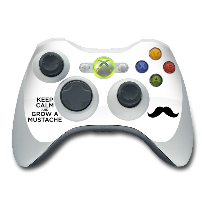 Line Drawing Xbox Controller : Xbox controller skin keep calm mustache by