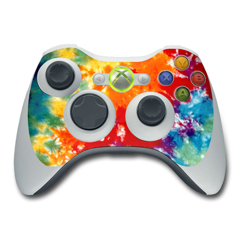 Xbox 360 Controller Skin - Tie Dyed by Retro | DecalGirl