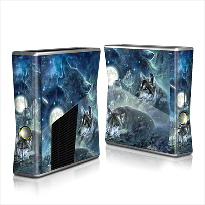 Xbox 360 S Skin - Bark At The Moon