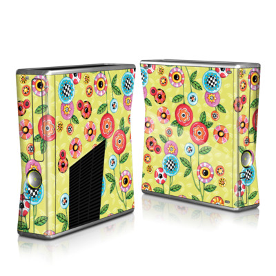 Xbox 360 S Skin - Button Flowers