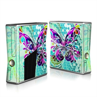 Xbox 360 S Skin - Butterfly Glass
