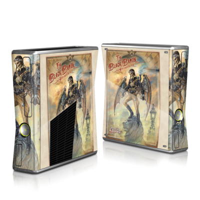 Xbox 360 S Skin - The Black Baron