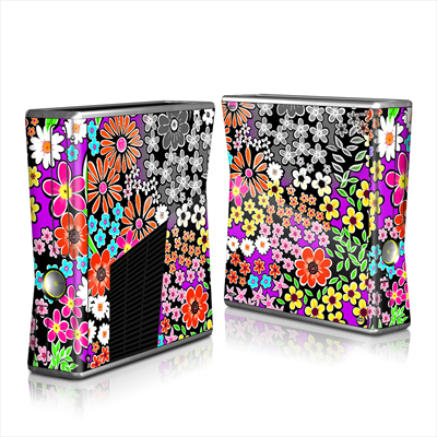 Xbox 360 S Skin - A Burst of Color