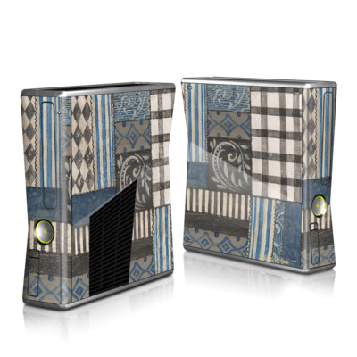 Xbox 360 S Skin - Country Chic Blue