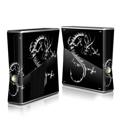 Xbox 360 S Skin - Chrome Dragon