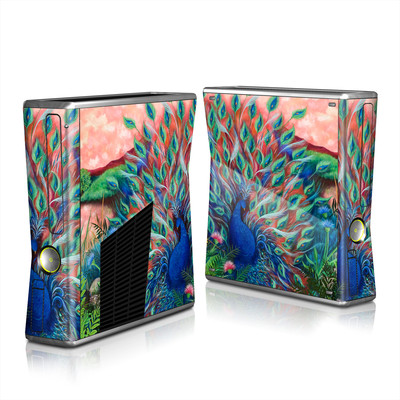 Xbox 360 S Skin - Coral Peacock