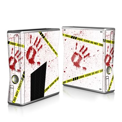 Xbox 360 S Skin - Crime Scene Revisited