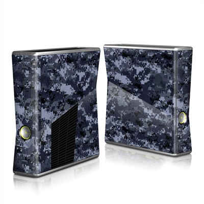 Xbox 360 S Skin - Digital Navy Camo