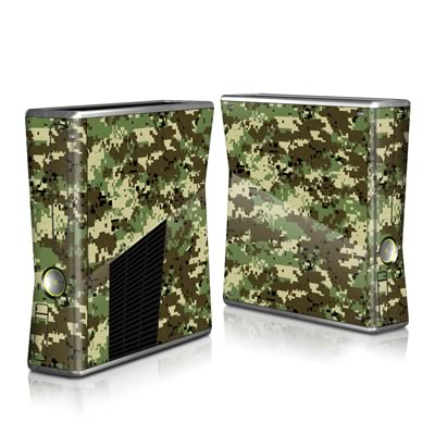 Xbox 360 S Skin - Digital Woodland Camo