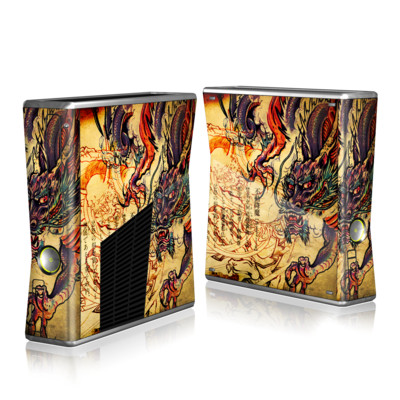 Xbox 360 S Skin - Dragon Legend