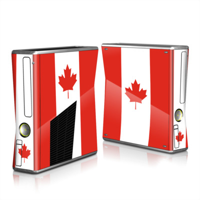 Xbox 360 S Skin - Canadian Flag
