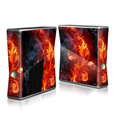 Xbox 360 S Skin - Flower Of Fire