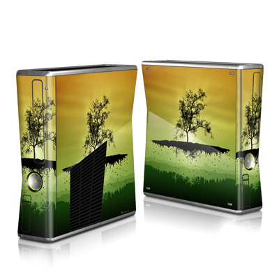 Xbox 360 S Skin - Flying Tree Amber