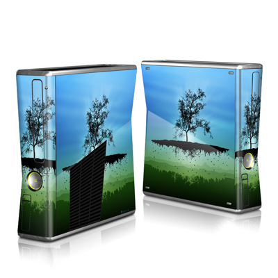 Xbox 360 S Skin - Flying Tree Blue