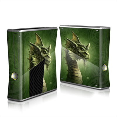 Xbox 360 S Skin - Green Dragon