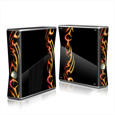 Xbox 360 S Skin - Hot Tribal