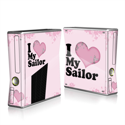 Xbox 360 S Skin - I Love My Sailor