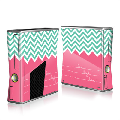 Xbox 360 S Skin - Live Laugh Love