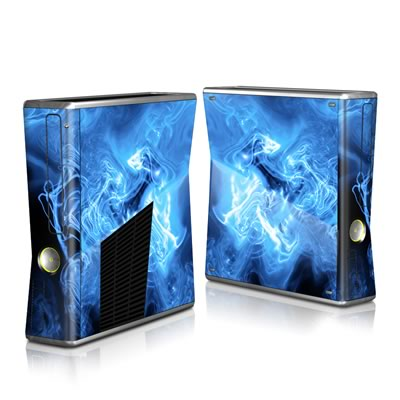 Xbox 360 S Skin - Blue Quantum Waves