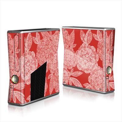 Xbox 360 S Skin - Red Dahlias