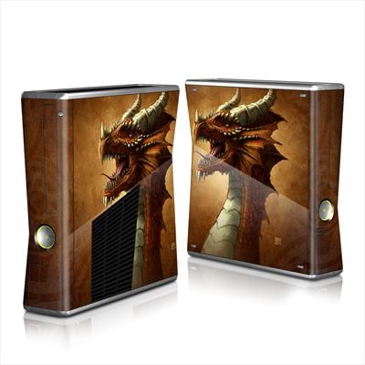 Xbox 360 S Skin - Red Dragon