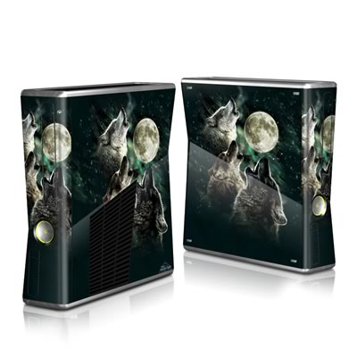 Xbox 360 S Skin - Three Wolf Moon