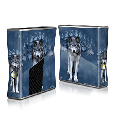 Xbox 360 S Skin - Wolf Cycle