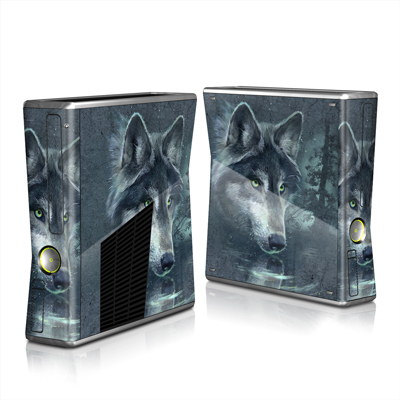 Xbox 360 S Skin - Wolf Reflection