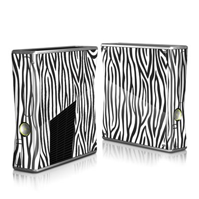 Xbox 360 S Skin - Zebra Stripes