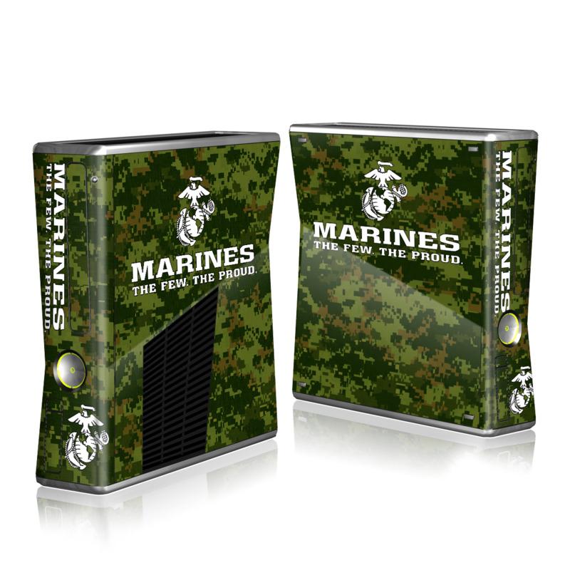 xbox 360 s skin usmc camo by us marine corps decalgirl