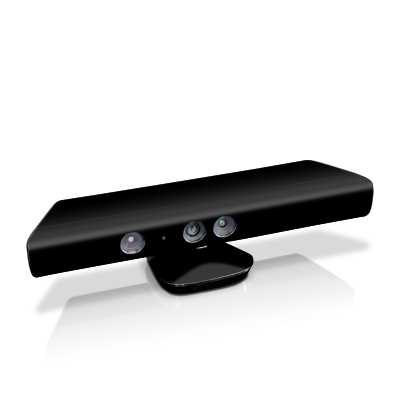 Xbox Kinect Skin - Solid State Black