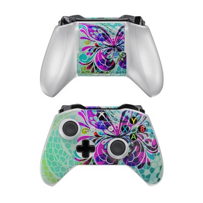 Microsoft Xbox One Controller Skin - Butterfly Glass