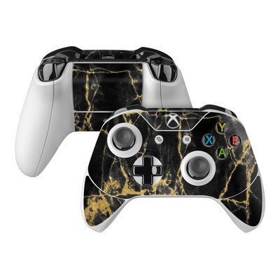 Microsoft Xbox One Controller Skin - Black Gold Marble