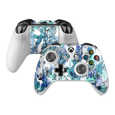 Microsoft Xbox One Controller Skin - Blue Ink Floral