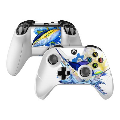 Microsoft Xbox One Controller Skin - Blue White and Yellow