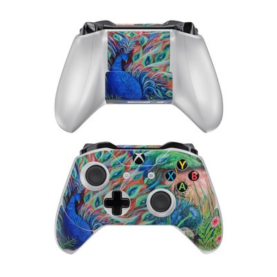 Microsoft Xbox One Controller Skin - Coral Peacock