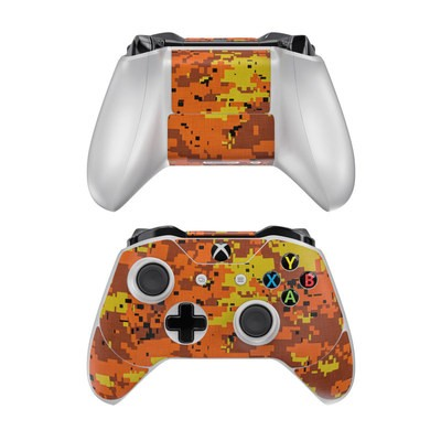 Microsoft Xbox One Controller Skin - Digital Orange Camo