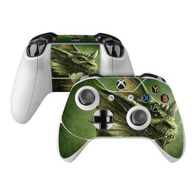 Microsoft Xbox One Controller Skin - Green Dragon