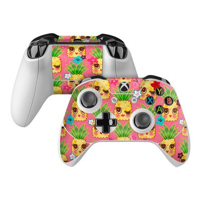 Microsoft Xbox One Controller Skin - Happy Kawaii Pineapples