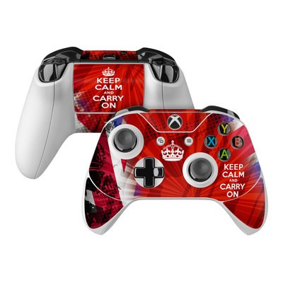 Microsoft Xbox One Controller Skin - Keep Calm - Burst