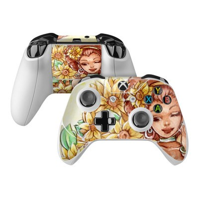 Microsoft Xbox One Controller Skin - Lady Sunflower