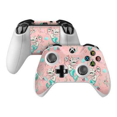 Microsoft Xbox One Controller Skin - Merkittens with Pearls Blush