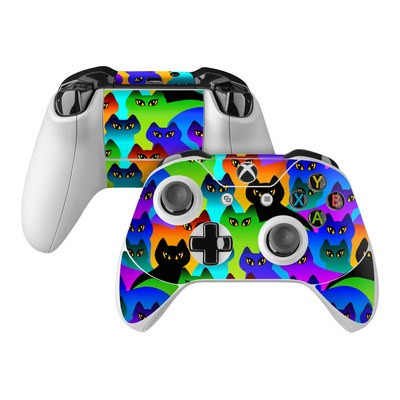 Microsoft Xbox One Controller Skin - Rainbow Cats