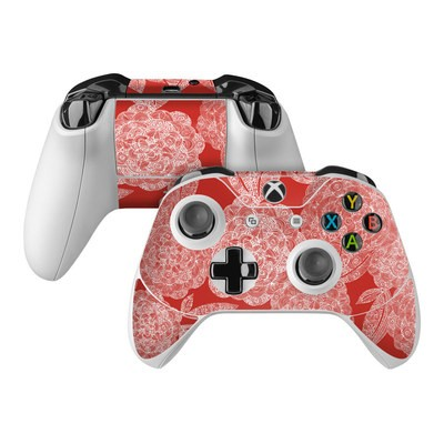 Microsoft Xbox One Controller Skin - Red Dahlias