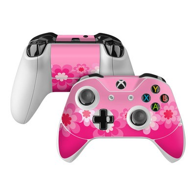Microsoft Xbox One Controller Skin - Retro Pink Flowers